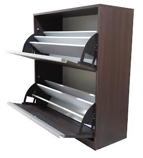 Zapatera 2 niveles hirondelle muebles for Zapatera de aluminio